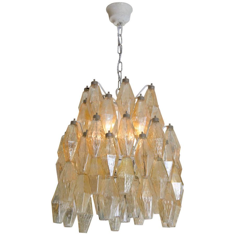 Carlo Scarpa polyhedral chandelier for Venini