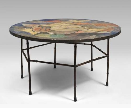 R. Mariani painted coffee table