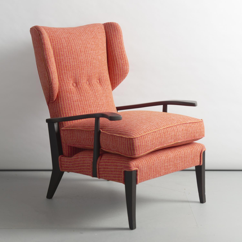 Italian 1940's reclinable armchair