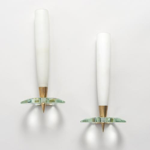 Pair of Max Ingrand for Fontana Arte wall lights