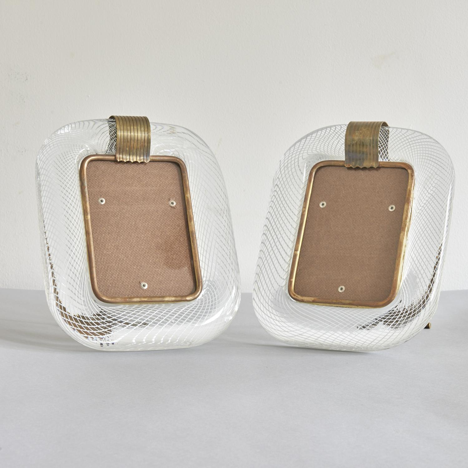 Pair of Carlo Scarpa for Venini photo frames