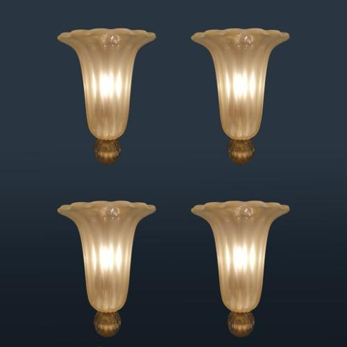 Rare Seguso wall lights