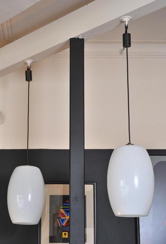 Pair of Gino Vistosi pendants
