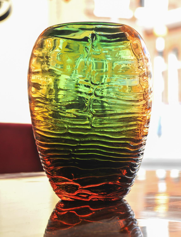 Shady glass vase