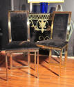 Brass and chrome chairs - picture 2