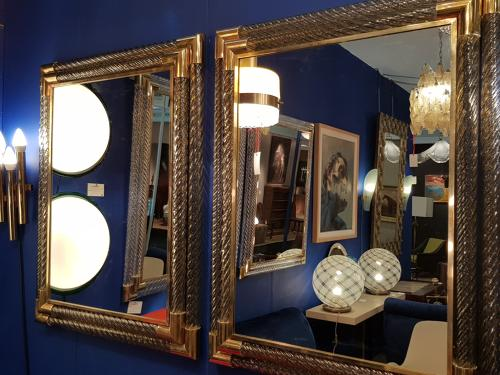 Pair of Barovier & Toso mirrors