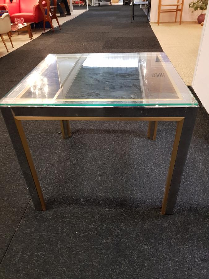 Brass and chrome side or coffe table
