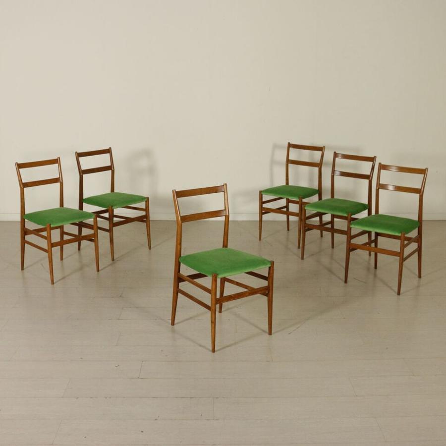 Six chairs by Giò Ponti