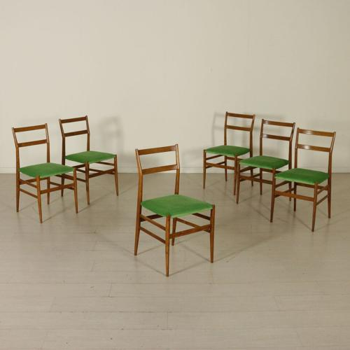 Six chairs by Giò Ponti