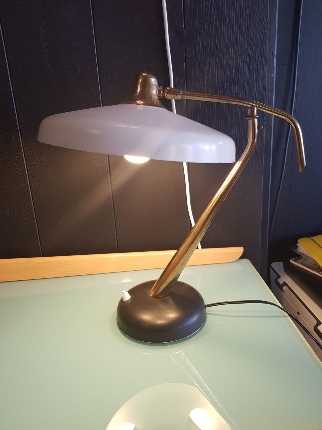 Oscar Torlasco rare table lamp