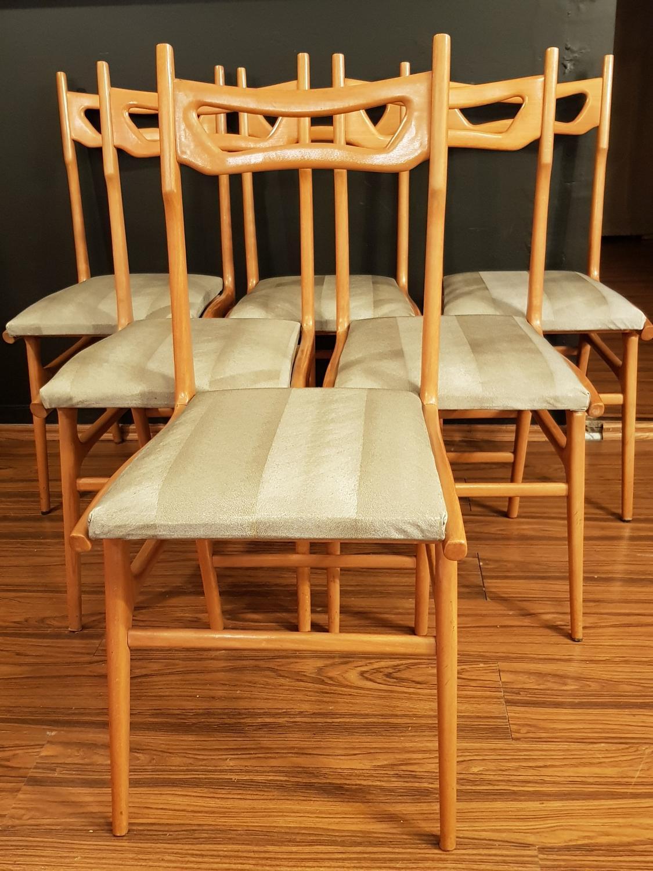 Six stylish Italian chairs