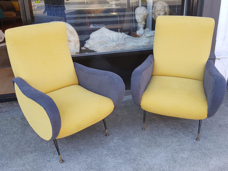 Pair of Italian armchairs, 1960's