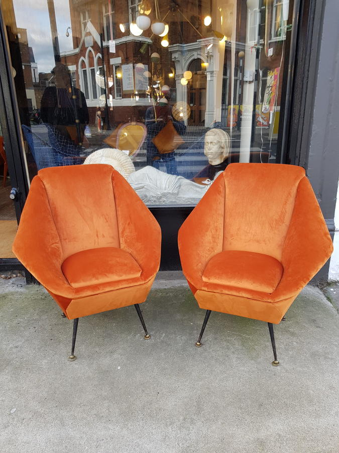 Pair of Aldo Morbelli armchairs