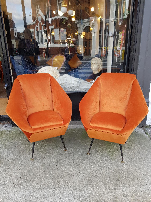 Pair of Aldo Morbelli armchairs