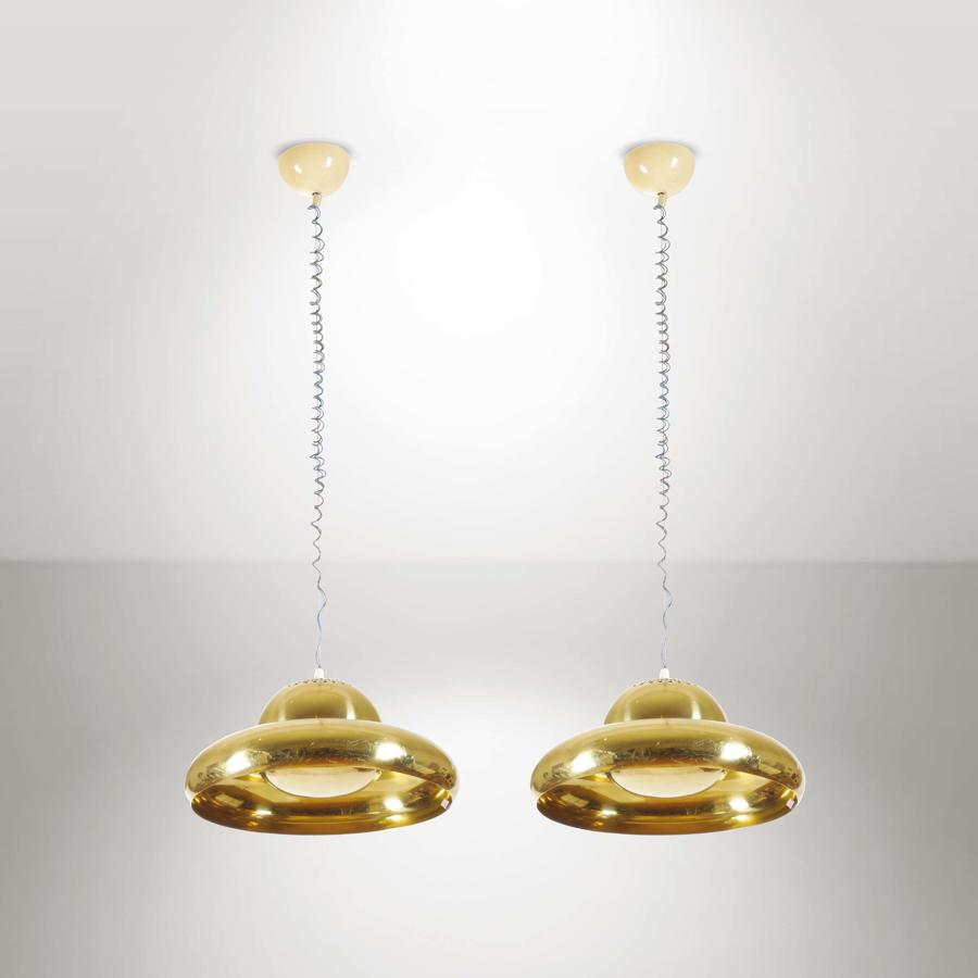 Afra & Tobia Scarpa pair of pendants