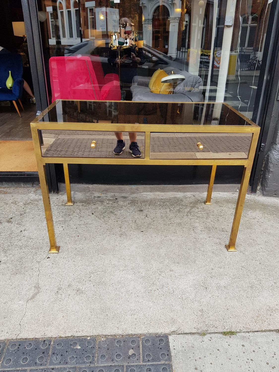 Mirrored console or desk