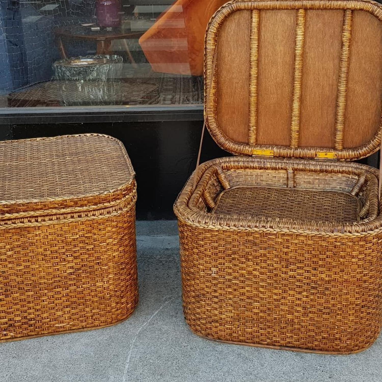 1920's rattan basket