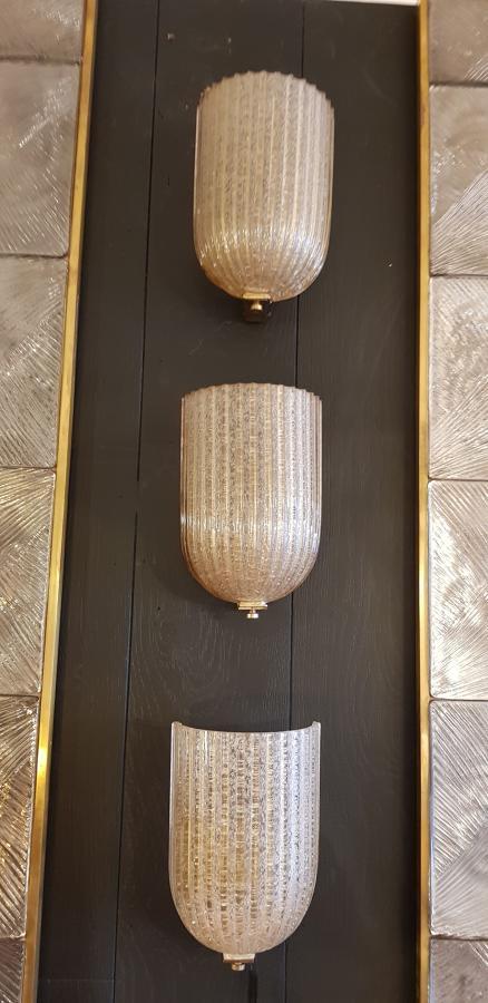 Three rare Venini wall lights