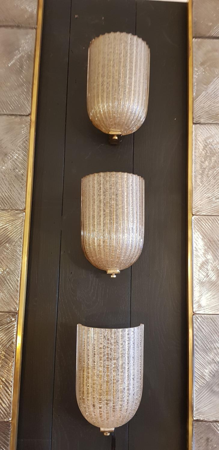 Three rare Venini wall lights