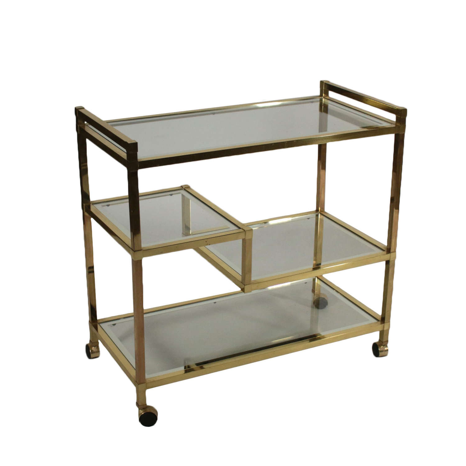 Romeo Rega brass and chrome trolley