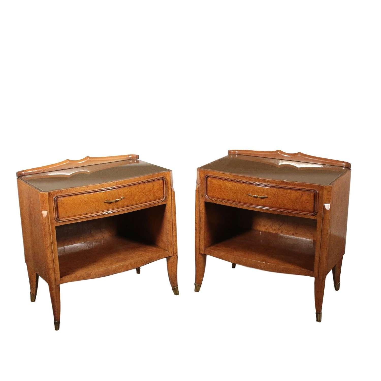 Pair of Osvaldo Borsani bedside tables