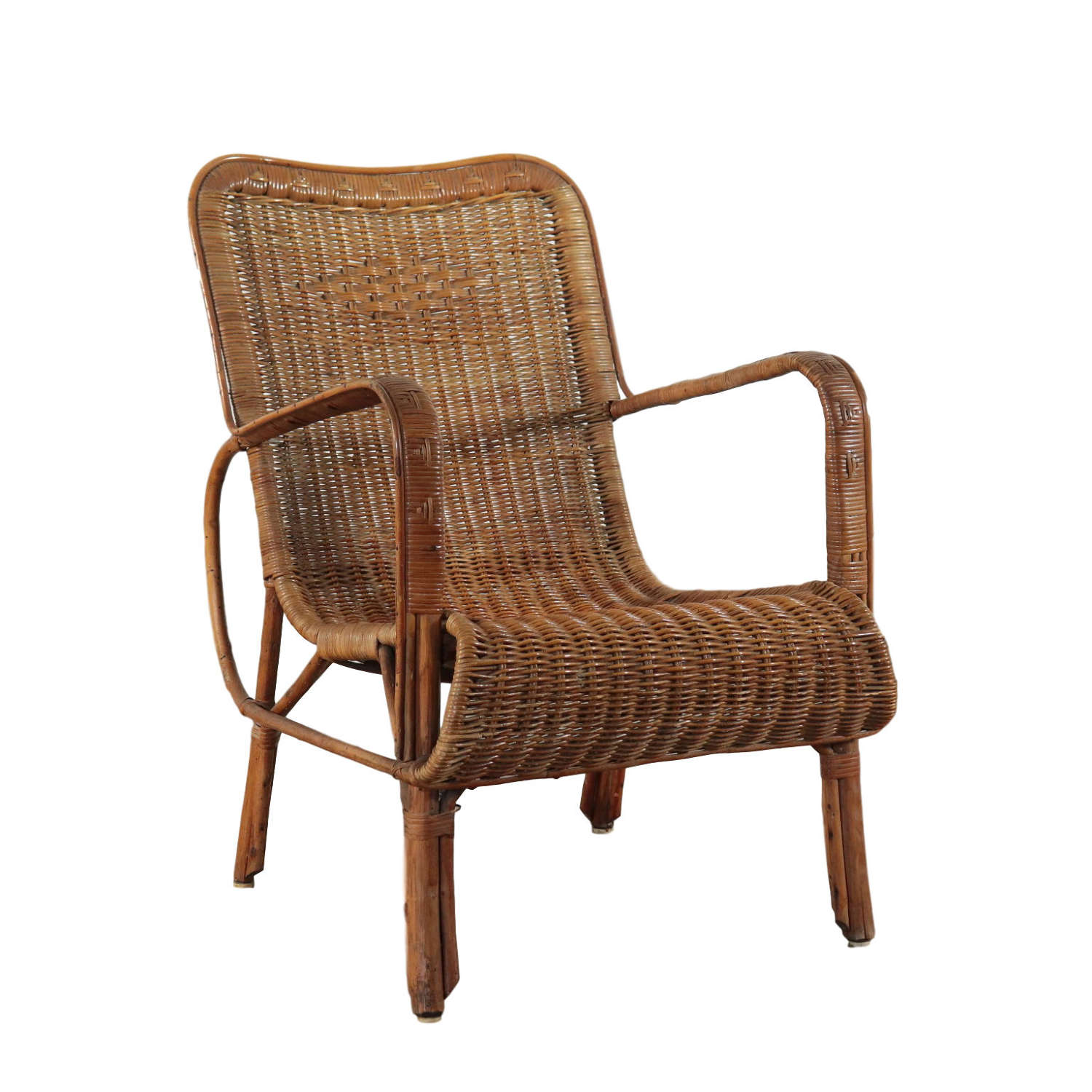 Vittorio Bonacina wicker chair