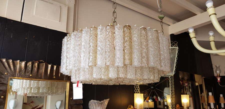 Very rare Venini chandelier