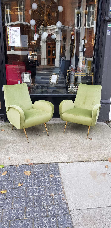 Pair of unusual Marco Zanuso armchairs