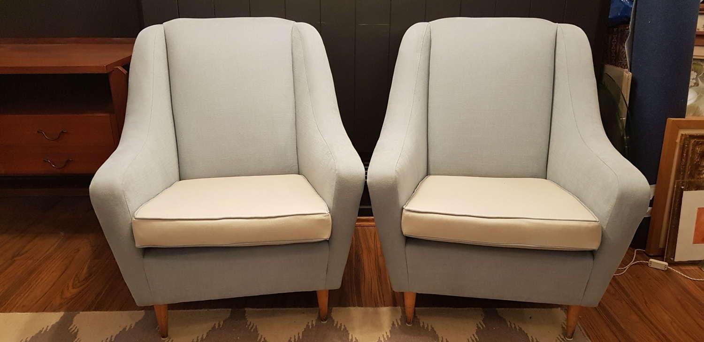 Pair of Ico Parisi armchairs